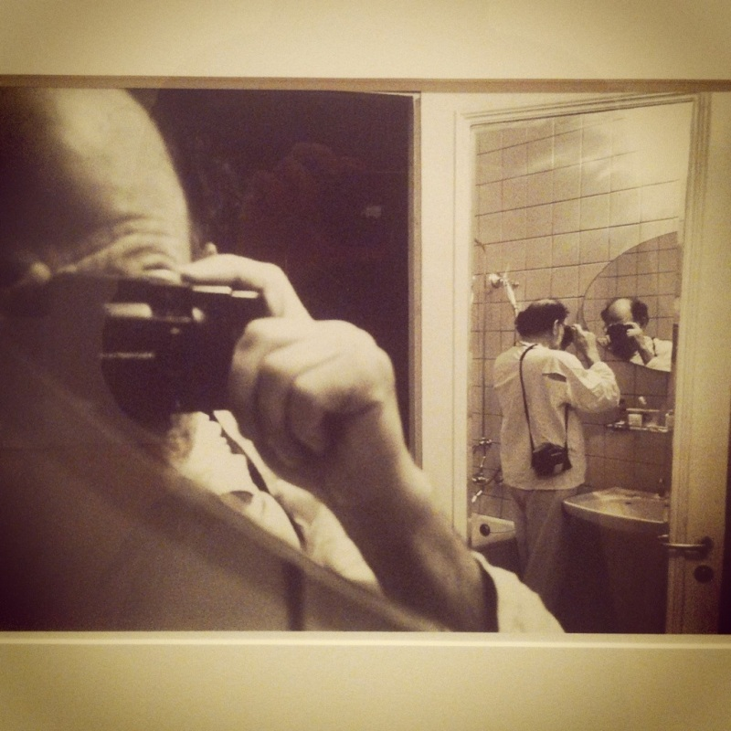 This one's very meta - me taking a picture of Ginsberg taking a picture of himself