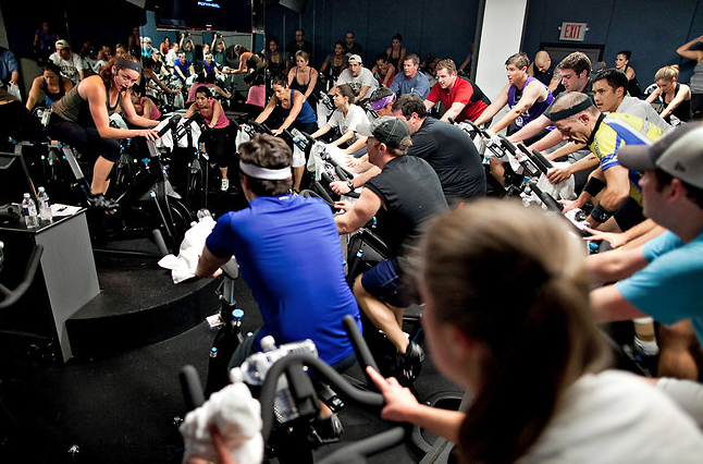 This is SoulCycle. Yes, it's as bizarre as it looks - but what a workout