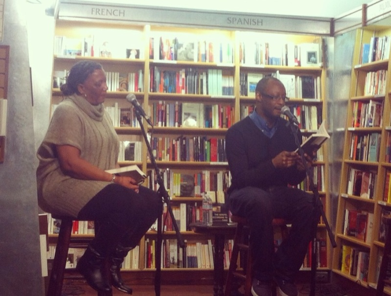 Bernice McFadden, left, and Courttia Newland at McNally Jackson