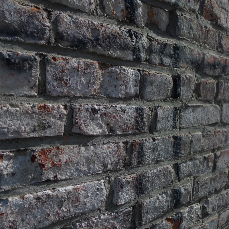 I liked the look of the worn paint on the brick