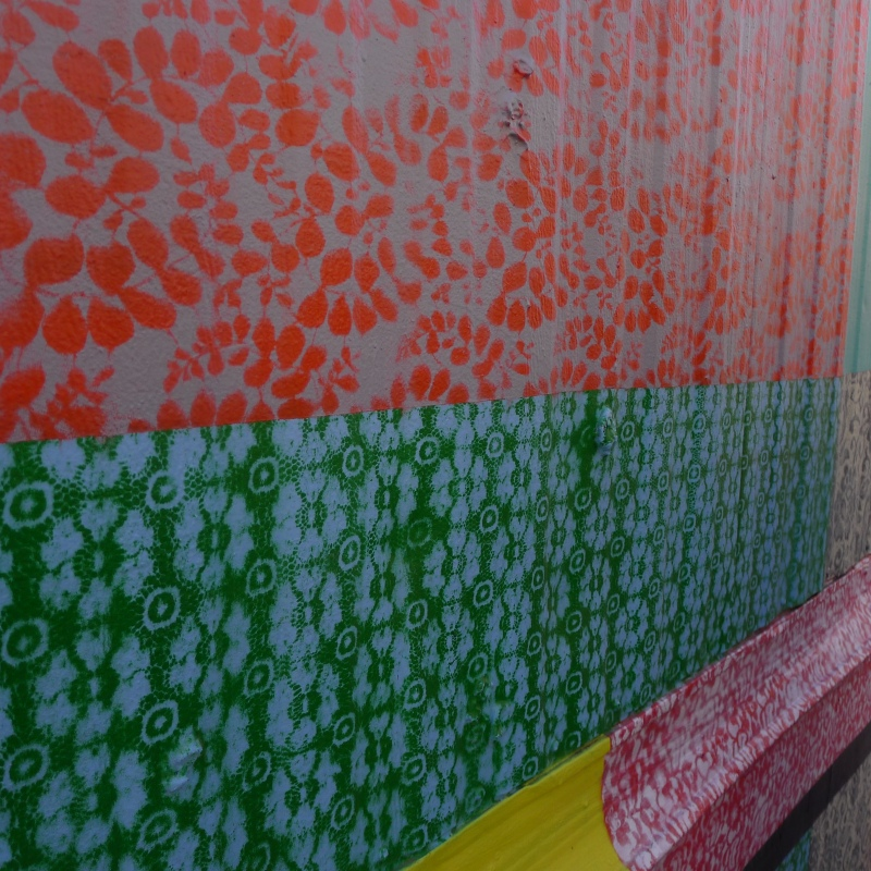 Work by Hellbent, who uses silk sheets to create his patterns