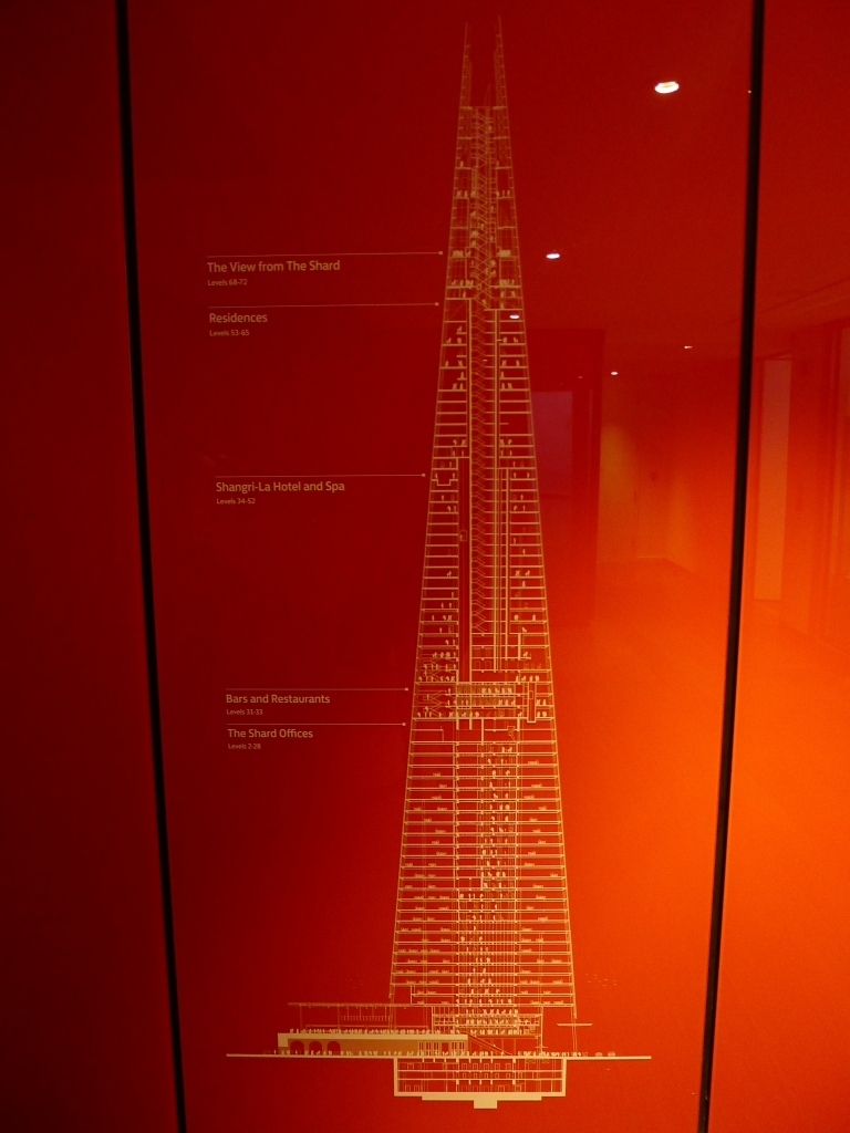 Seeing what The Shard is used for (and I headed right to the top)