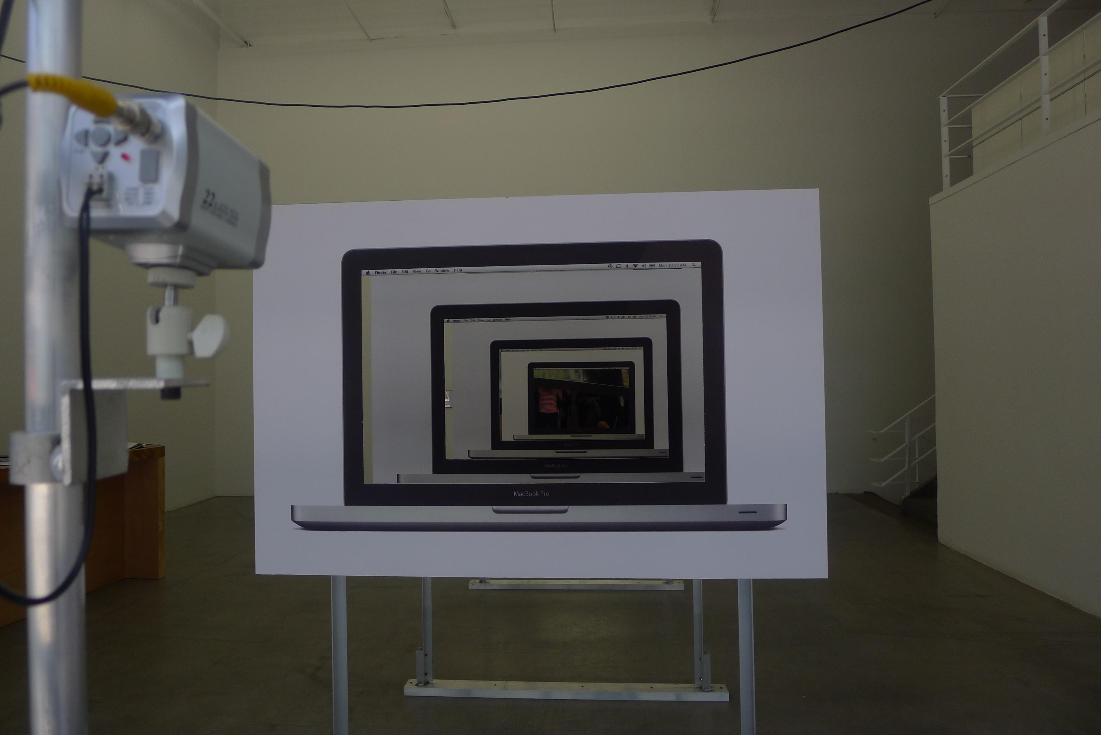 The entrance of the Jon Kessler exhibit