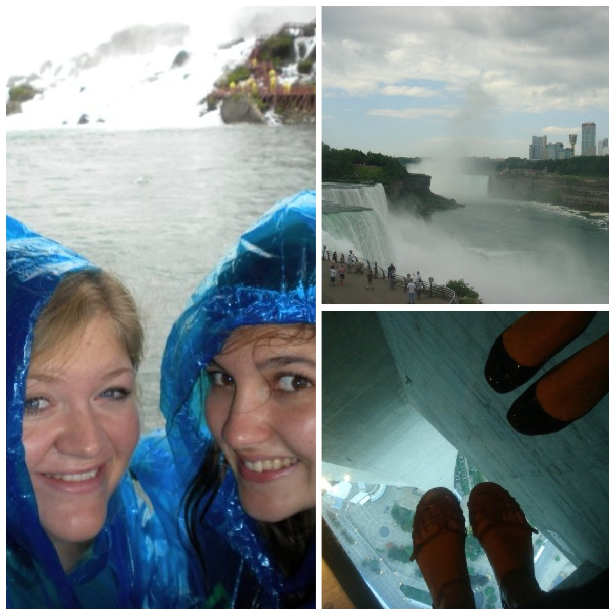Niagara Falls and the top of the CN Tower in Toronto