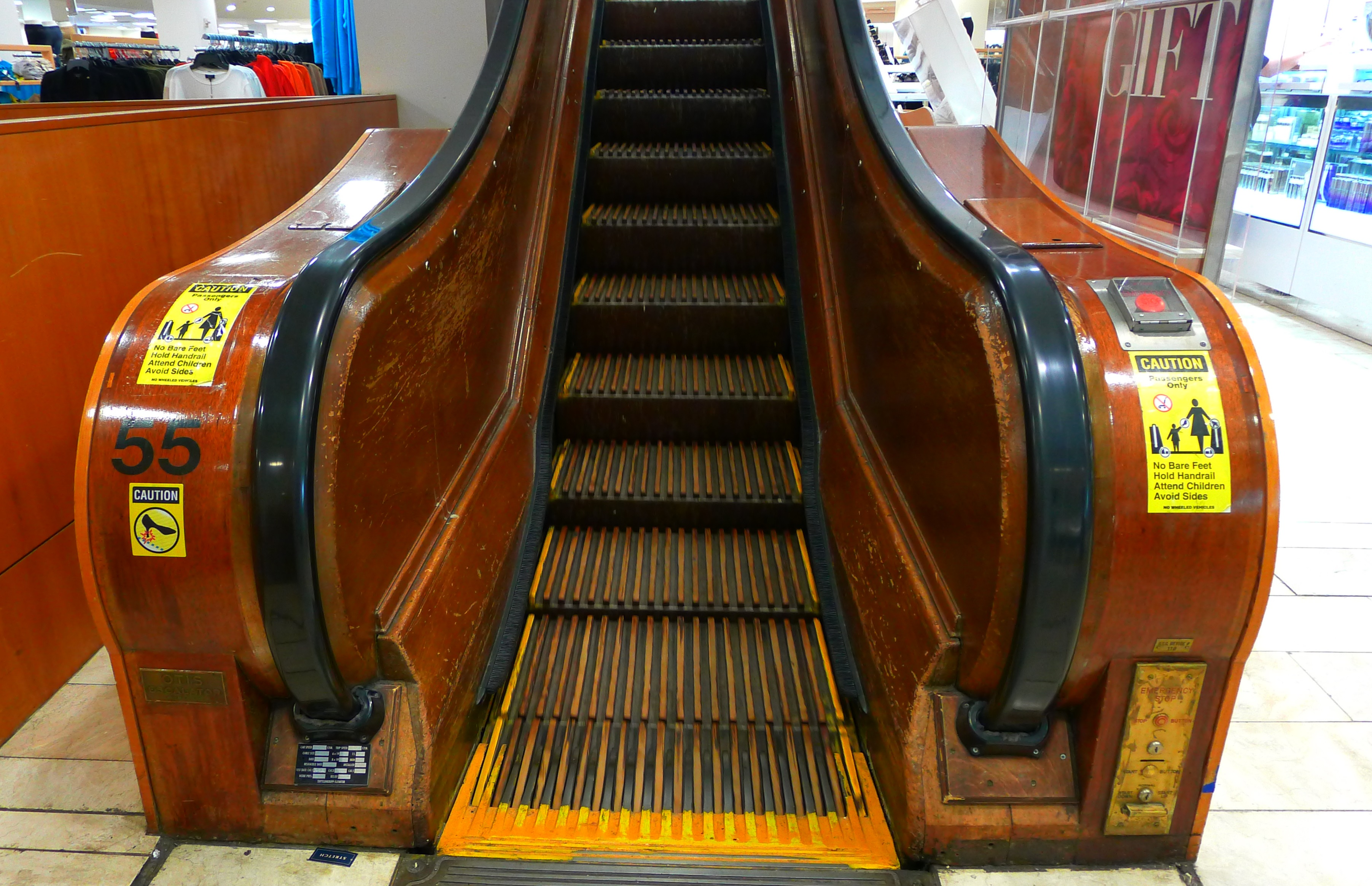 ...but some of the original escalators remain