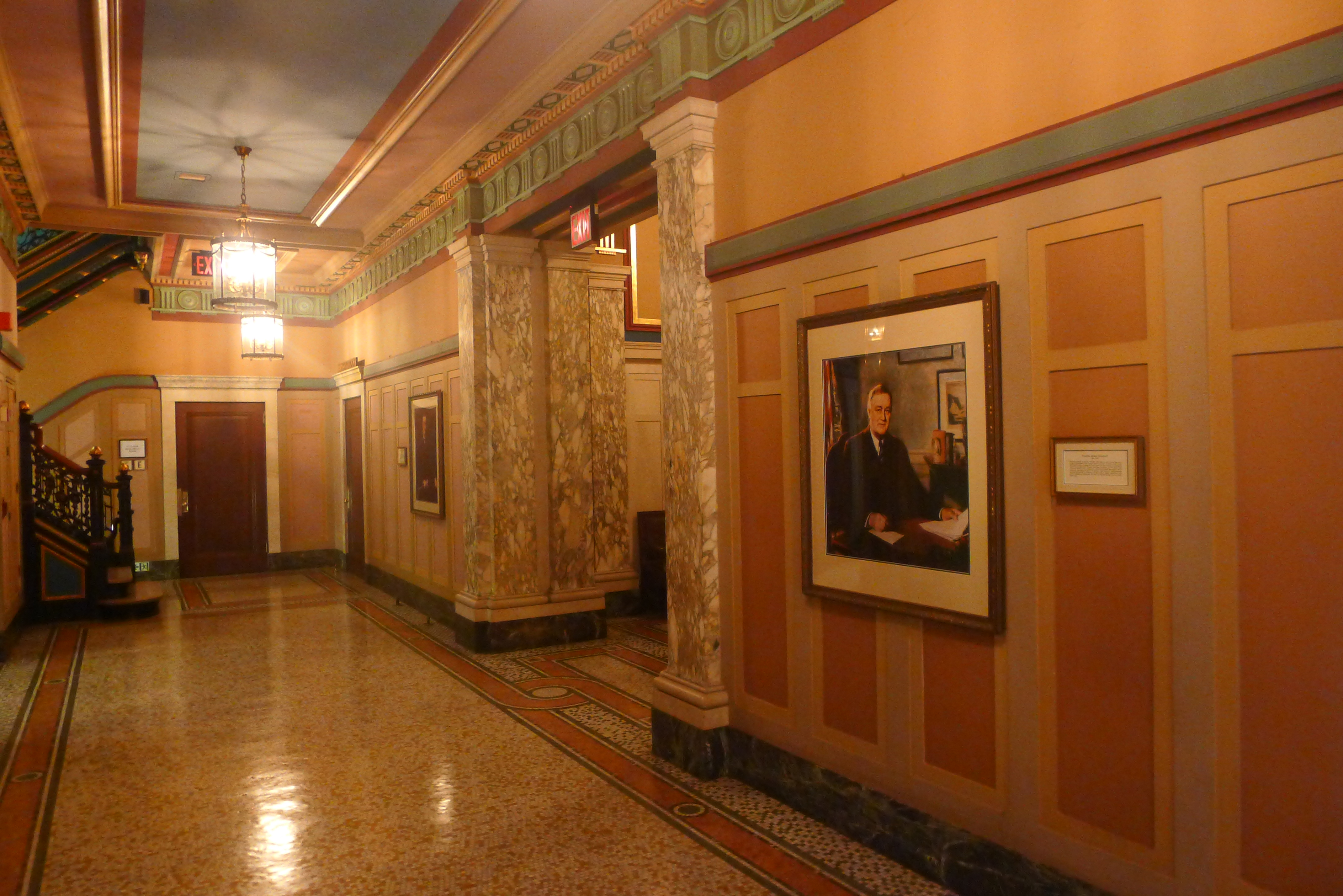The hallways which lead to the 13 lodges