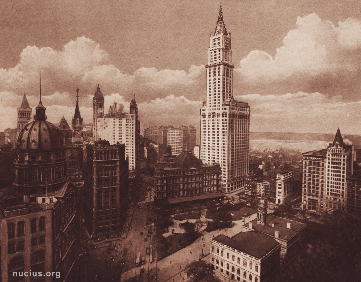 A historic photograph from a souvenir album about New York, found on nucius.org